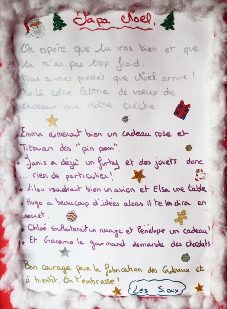 Crèche Tipipole - Lettre au Père Noël